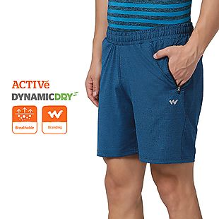 Wildcraft Men Running Shorts Pointel Knit