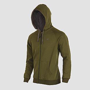 Wildcraft Men Sweatshirt Zipper For Winter - Olive