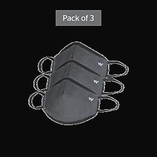 Wildcraft SUPERMASK W95 Plus Reusable Outdoor Respirator - GRINDLE GREY - Pack of 3