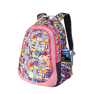 Wildcraft Wiki 6 Stamp Backpack - Pink